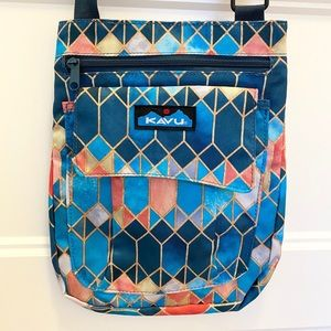 NWT Kavu For Keeps Cross-Body Bag, Stained Glass